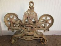 F.E. MEYERS & BROS ANTIQUE HAY TROLLEY **RESERVE**