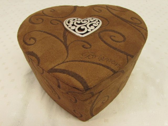 Lot Detail BEAUTIFUL BRIGHTON HEART SHAPED MULTI LEVEL JEWELRY BOX