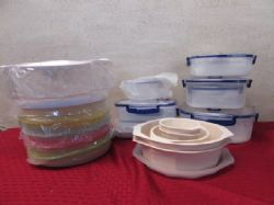 LOADS OF NEW KITCHEN VACUUM STORAGE CONTAINERS, SPICE CAROUSEL, MICROWAVE SET & More