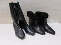 2 PAIR OF NEVER WORN WOMENS U.S.A. MADE  WET WEATHER BOOTS