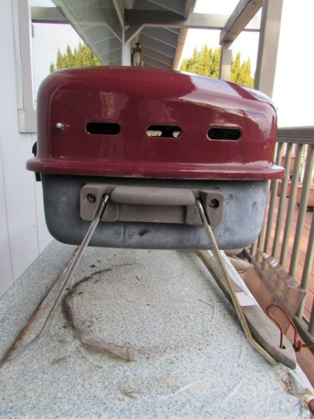 Lot Detail Uniflame Portable Propane Grill Plus Three