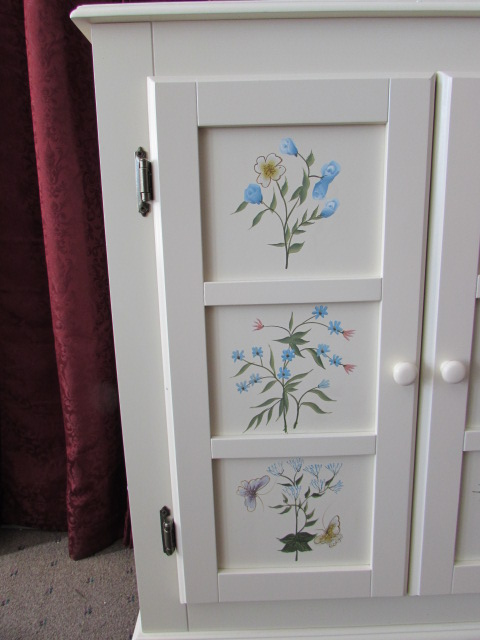 bathroom floor shelves lot detail never used lovely handpainted floor cabinet 10685