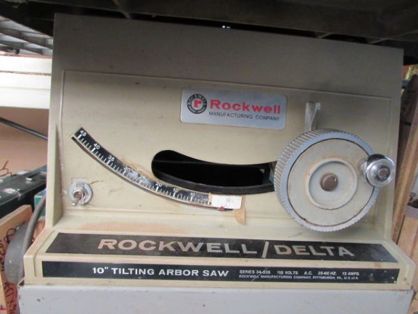 Lot Detail Rockwell Delta 10 Quot Tilting Arbor Table Saw