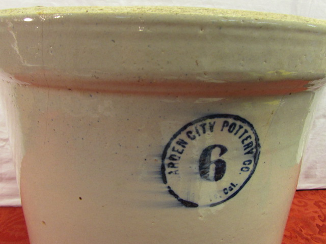 6 GALLON CROCK · VINTAGE GARDEN CITY POTTERY CO.