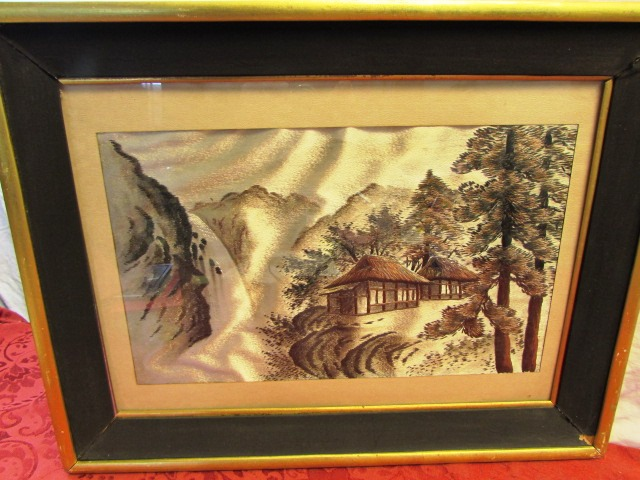 Lot Detail - AMAZING PAIR OF FRAMED JAPANESE SILK EMBROIDERED WALL ART