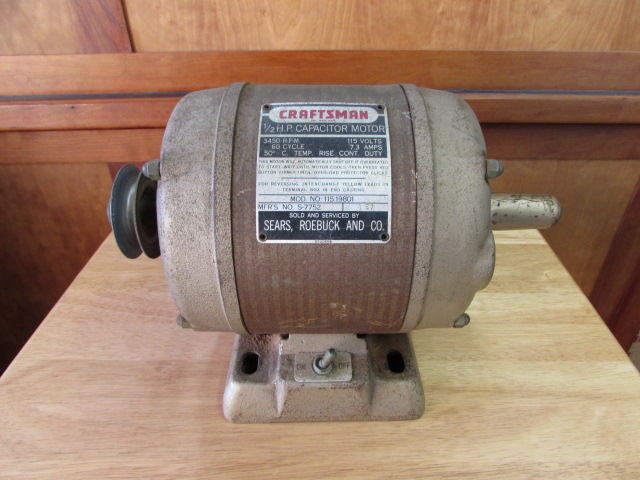 Lot detail craftsman 1 2 hp electric motor for 1 2 horsepower electric motor