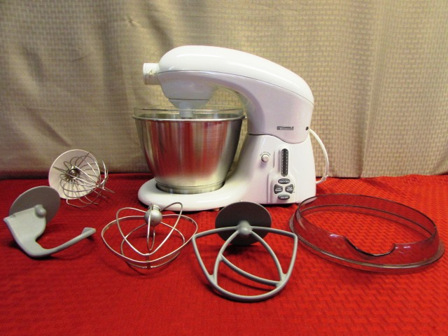 kenmore mixer. a serious mixer! kenmore ksm100 stand up mixer with 4 attachments, pour shield, kenmore mixer l