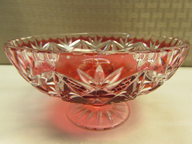 Well known Lot Detail - LARGE BLUE CARNIVAL GLASS FOOTED BOWL, MARIGOLD DISH  VI95