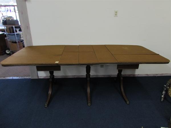 Antique Drop Leaf Table Wstorage