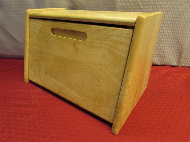 ... CUTE WOOD BREAD BOX MARBLE u0026 WOOD ROLLING PINS TUPPERWARE PASTRY MAT SILEX ... & Lot Detail - CUTE WOOD BREAD BOX MARBLE u0026 WOOD ROLLING PINS ... Aboutintivar.Com