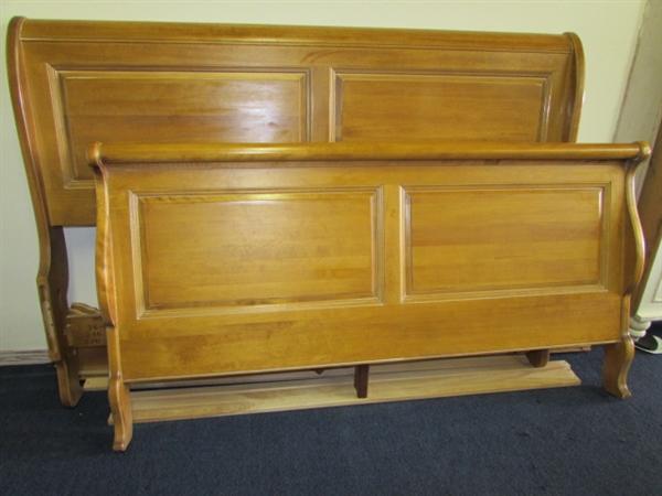 Lot detail high quality ethan allen queen size sleigh bed - Ethan allen queen beds ...