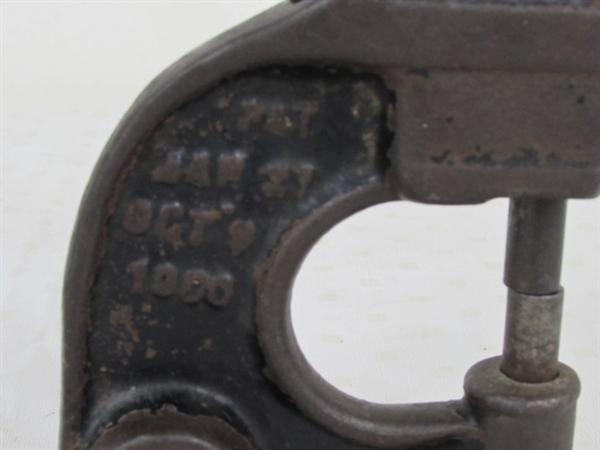 Lot detail antique cast iron hand rivet punch press with