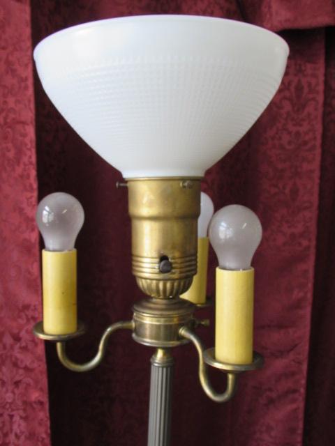 Vintage style brass floor lamp lamp design ideas lot detail elegant vintage brass floor lamp with candelabra style aloadofball Images