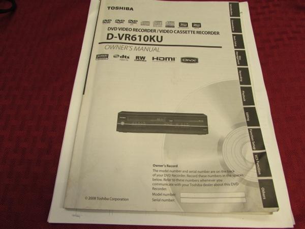 toshiba vhs to dvd recorder manual