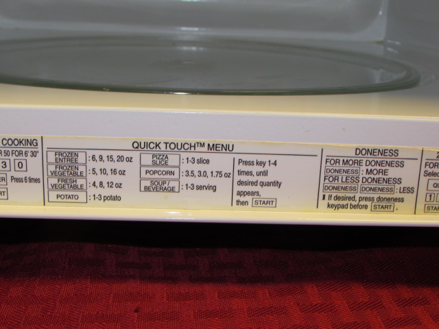 Kenmore Quick Touch Microwave