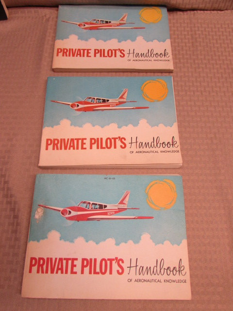 Lot Detail TAKE TO THE SKIESVINTAGE PRIVATE PILOTS HANDBOOKS - Vintage aviation maps