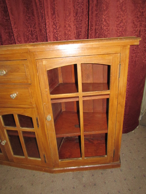 All Wood Storage Cabinet ~ Lot detail charming rustic all wood side board cabinet