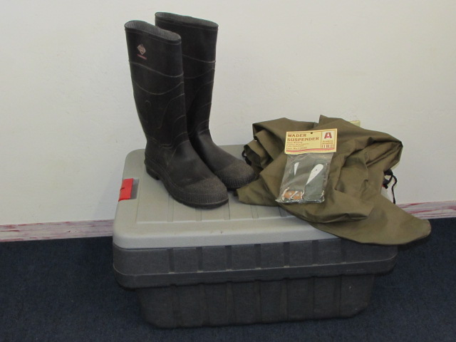 OUTDOOR GEAR TO MUCK AROUND IN PLUS STORAGE BOX TO KEEP IT IN!