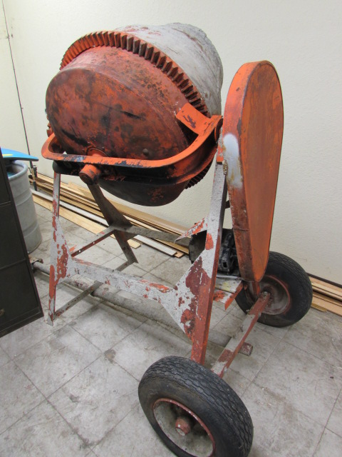 Lot Detail Tow Behind Electric Cement Mixer With Emerson