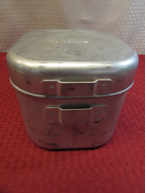 Lot Detail COLEMAN BACKPACKCAMP COOK STOVE WITH COOKING POT