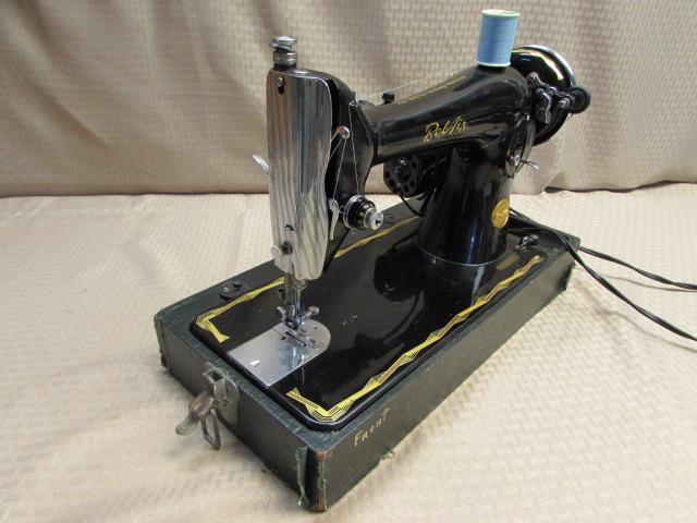 Lot Detail GORGEOUS VINTAGE BEL AIR 40 PORTABLE SEWING MACHINE Unique Belair Sewing Machine