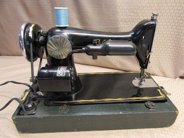 Lot Detail GORGEOUS VINTAGE BEL AIR 40 PORTABLE SEWING MACHINE Beauteous Belair Sewing Machine