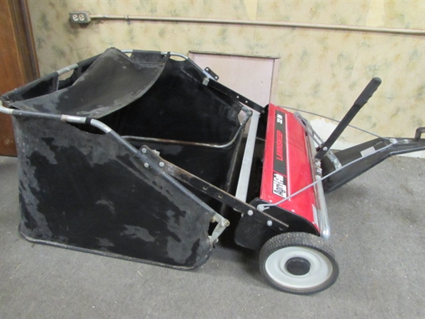 lot detail agri fab 32 lawn sweeper. Black Bedroom Furniture Sets. Home Design Ideas