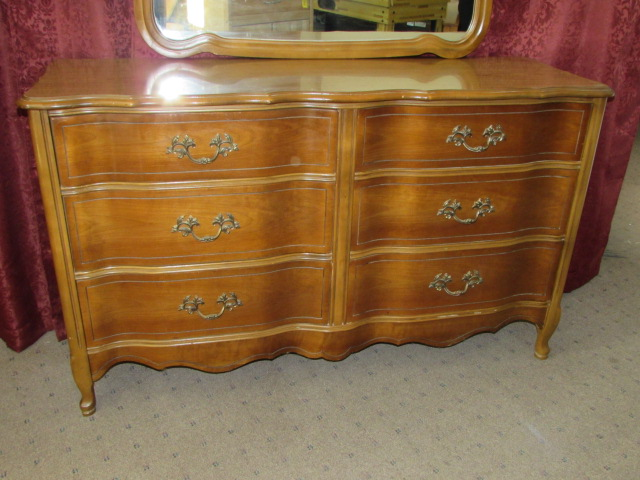 ... LOVELY BASSET FURNITURE INDUSTRIES INC. 6 DRAWER DRESSER WITH MIRROR ...