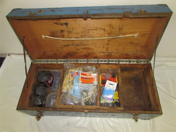 Cool Toy Box For Boys : Lot detail really cool big blue solid wood box for