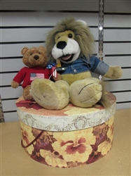 "THIS VALENTINES DAY SAY YOU LOVE HER ""NO LION""!  LION HAND PUPPET, GIFT BOX & MORE"