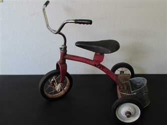 THE CUTEST LITTLE RED TRICYCLE! VINTAGE ROAD MASTER WITH SOLID RUBBER WHEELS