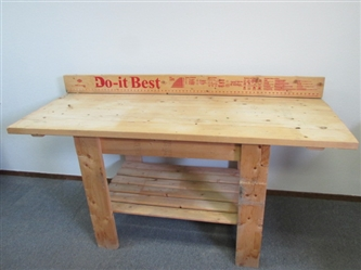 BIG BOYS WORK BENCH WITH BUILT IN EXTRAS