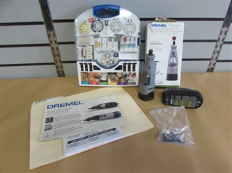 A MUST HAVE TOOL! DREMEL 7300 CORDLESS & A A NEW SET OF ACCESSORIES WITH CASE