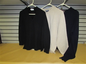 CASHMERE! YES! THREE LADIES CASHMERE SWEATERS
