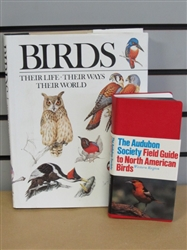 ALL ABOUT BIRDS-VINTAGE AUDUBON SOCIETY FIELD GUIDE TO N. AMERICAN BIRDS & COFFEE TABLE BIRD BOOK