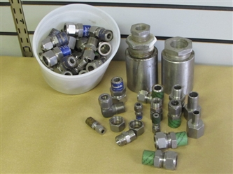 RANCHER ALERT! LARGE ASSORTMENT OF STAINLESS STEEL FITTINGS, COUPLERS & REDUCERS