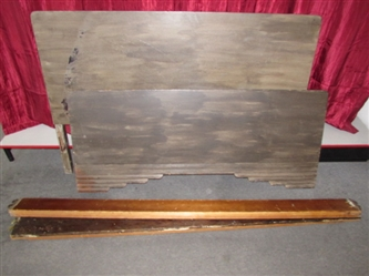 FULL SIZE ART DECO BED WITH SIDE RAILS