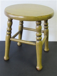 CUTE LITTLE FARM STOOL WITH TURNED LEGS