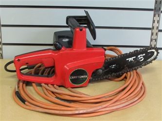 "CRAFTSMAN 8"" ELECTRIC CHAINSAW WITH EXTENSION CORD"
