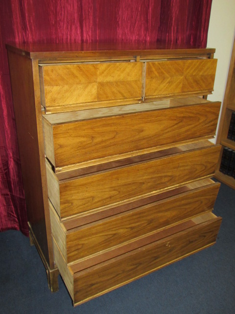 Beau VINTAGE TALLBOY DRESSER U0026 MATCHING 2 DRAWER NIGHT STAND FROM DIXIE  FURNITURE CO.