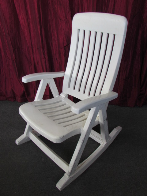 Lot Detail Nice Adjustable Patio Rocking Chair Folds