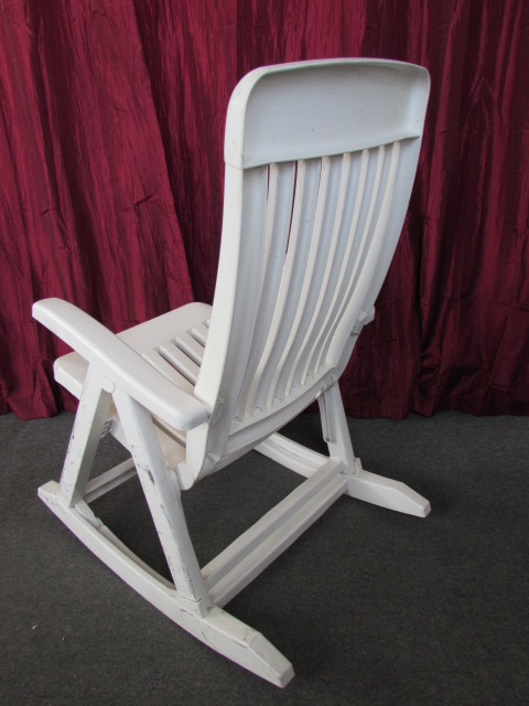 Lot Detail - NICE ADJUSTABLE PATIO ROCKING CHAIR , FOLDS ...