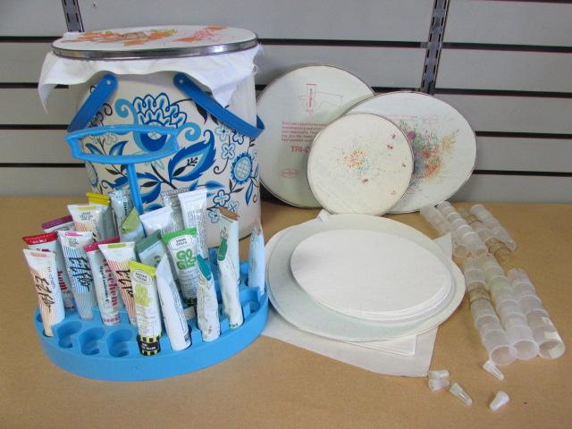 Lot Detail Loads Of Tri Chem Liquid Embroidery Supplies Paints