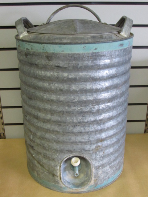 Famous Lot Detail - GOOD 'OL VINTAGE GALVANIZED WATER COOLER, BUCKET  QL19