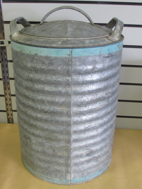 Fresh Lot Detail - GOOD 'OL VINTAGE GALVANIZED WATER COOLER, BUCKET  DL96