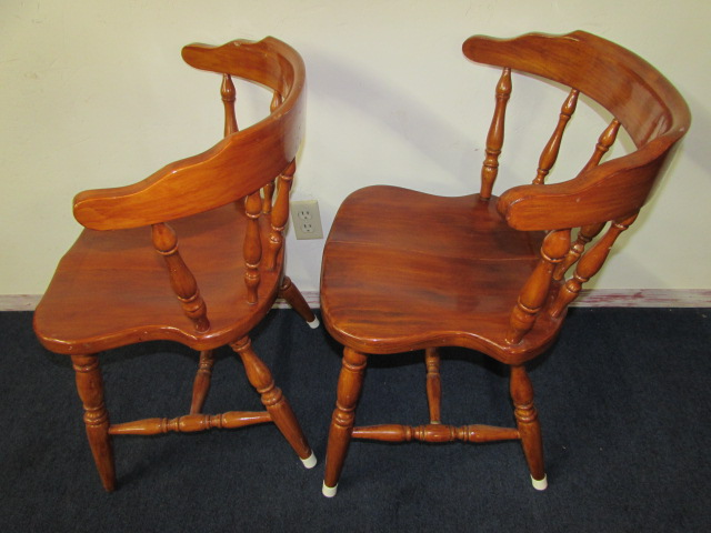 lot detail pair of sweet early american style kitchen chairs