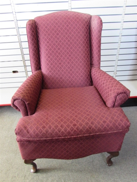 Lot Detail - ELEGANT ARM CHAIR #2 TO COMPLETE YOUR LIVING ROOM SET
