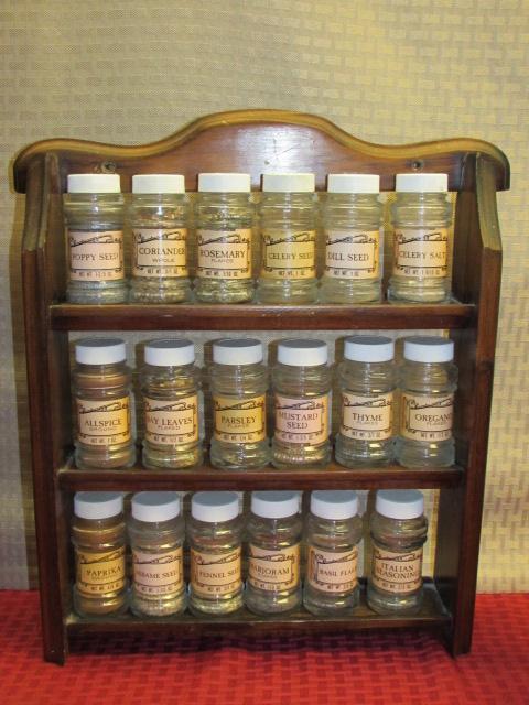 Lot detail quaint kitchen decor wood spice rack w 18 for Quaint kitchen designs