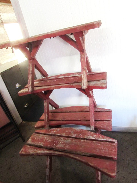 Lot Detail Four Rustic Wood Benches For Around The