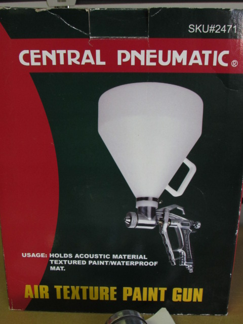 Lot Detail TEXTURE PAINT NIB CENTRAL PNEUMATIC AIR TEXTURE GUN